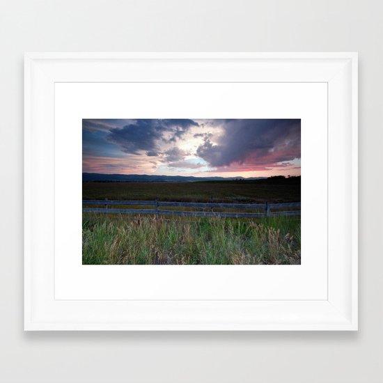 Sunset in Star Valley Framed Art Print