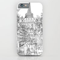 iPhone & iPod Case featuring Paris! B&W by David Bushell