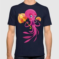 Miss Ocptopus Mens Fitted Tee Navy SMALL