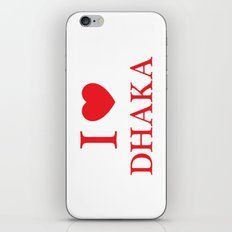 I Love Dhaka iPhone & iPod Skin