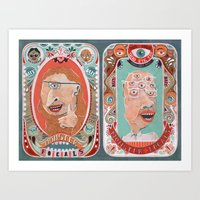 monster Art Prints featuring Monster Focals by Valeriya Volkova