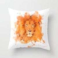 Splatter Lion Throw Pillow