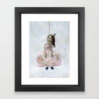 sad princess Framed Art Print