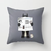 A Bat Sunday Throw Pillow