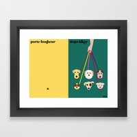 les chiens Framed Art Print