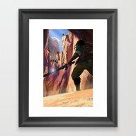 Death Mountain Framed Art Print