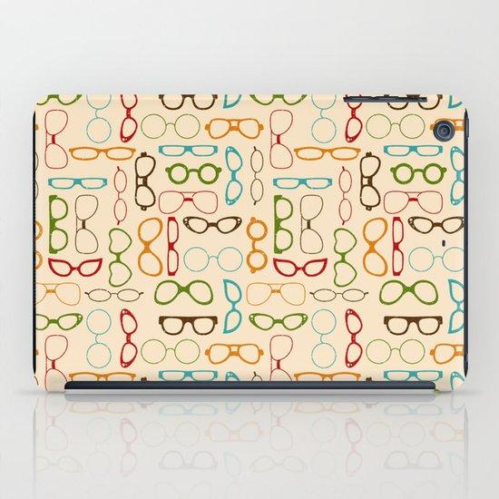 Retro glasses iPad Case