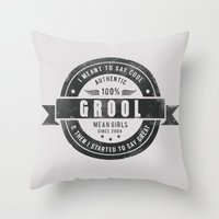 GROOL Badge Design Based… Throw Pillow