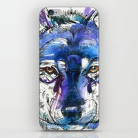 Indigo Wolf iPhone & iPod Skin