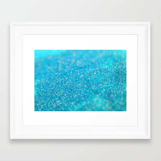 Mermaid Sparkles Framed Art Print