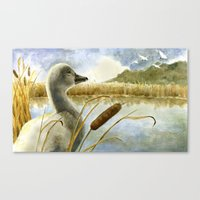 The Ugly Duckling Sees S… Canvas Print