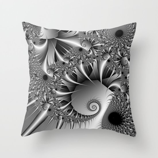 Silver Thorn Throw Pillow
