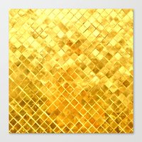 Give Me Gold: Festive, G… Canvas Print