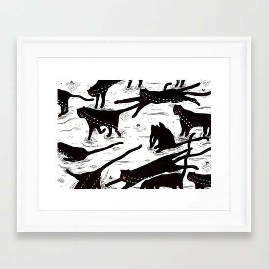 ze crying katz Framed Art Print