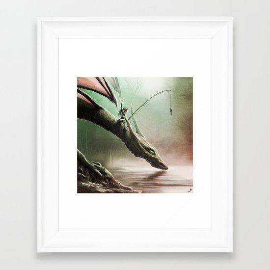 Fishing On The Drinking Dragon Framed Art Print