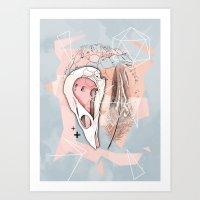 Feather Box V2 Art Print