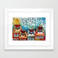 City Cats Framed Art Print