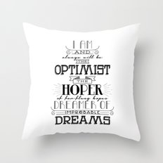 Doctor Who - Optimist Throw Pillow