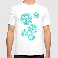 Wild turquoise hearts Mens Fitted Tee White SMALL