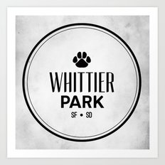 Whittier Park Art Print