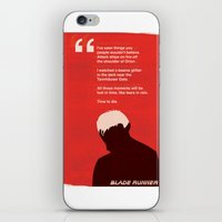 BLADE RUNNER TEARS IN RAIN iPhone & iPod Skin
