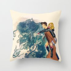 Hey, little one Throw Pillow