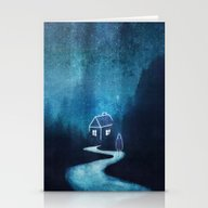 Alone In A Ghost Town Stationery Cards