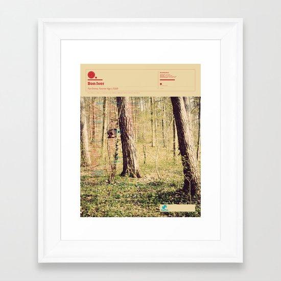The Visual Mixtape 2010 | For Emma, Forever Ago | 02 / 25 Framed Art Print