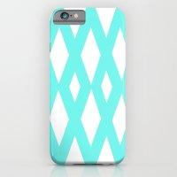 Aqua Diamonds iPhone 6 Slim Case