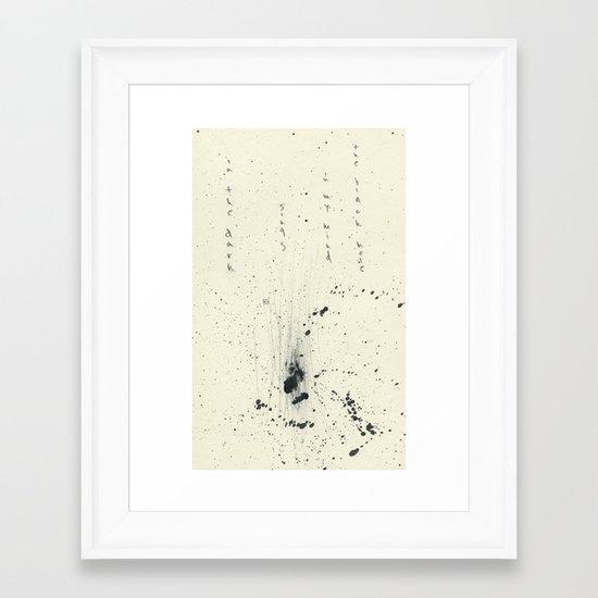 The Black Hole In My Mind Sings In The Dark Framed Art Print