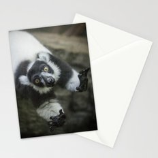 Lemur In The Glass Stationery Cards
