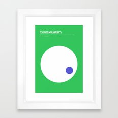 Contextualism Framed Art Print