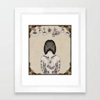 something flowery  Framed Art Print