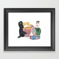 Lamen Bird. Framed Art Print