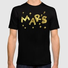 MARS Mens Fitted Tee Black SMALL