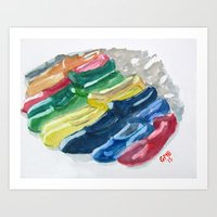 Zapatos de Flamenco Art Print