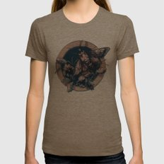 Circle of Life Womens Fitted Tee Tri-Coffee SMALL