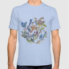 Bird Circle Mens Fitted Tee Athletic Blue SMALL