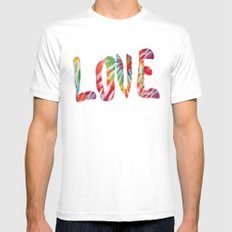 A Fractal of Love White Mens Fitted Tee SMALL