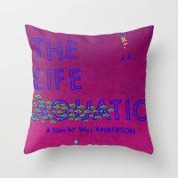 The Life Aquatic Throw Pillow