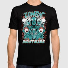 Zombie nightmare SMALL Black Mens Fitted Tee