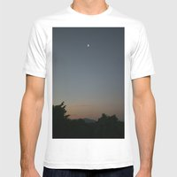 Moon Mens Fitted Tee White SMALL