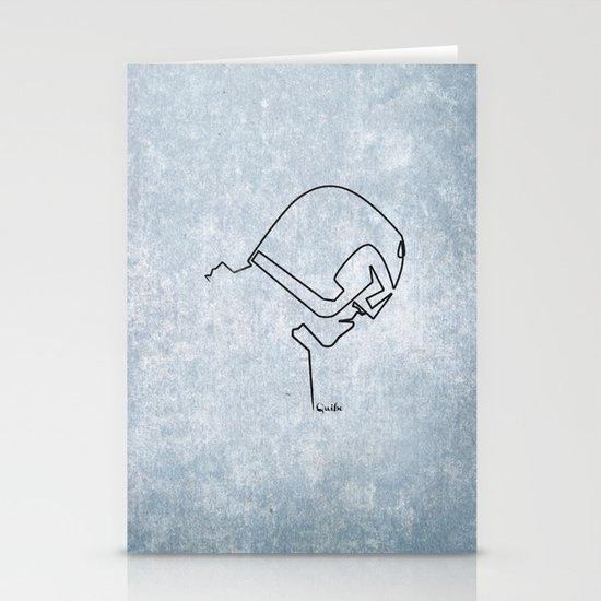 One line Dredd Stationery Card