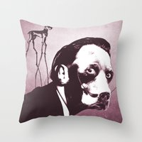 SalvaDog Dalí Throw Pillow