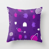 Space Ghosts Throw Pillow