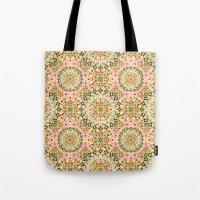 Pink Carousel Mandalas Tote Bag