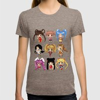 Anime Pigtails Womens Fitted Tee Tri-Coffee SMALL