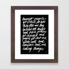 ABSOLUTELY NOTHING Framed Art Print