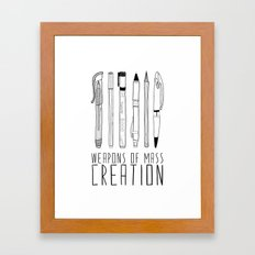 weapons of mass creation Framed Art Print