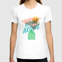 Home Alone Womens Fitted Tee White SMALL